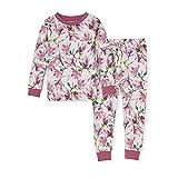 Burt's Bees Baby Baby Girls' Pajamas, Tee and Pant 2-Piece Pj Set, 100% Organic Cotton, Magnificent Magnolias, 24 Months
