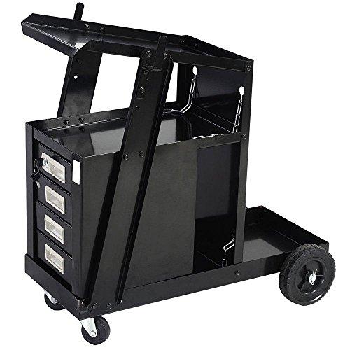 Plasma Cabinet (Zimtown Welding Welder Cart MIG TIG ARC Plasma Cutter Tank Storage W/ 4 Drawer Cabinet)