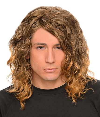 Men's Wavy Dark Blonde Hollywood Rock Grunge Wig - One Size Fits Most