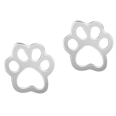 Pendientes piercing con forma de huellas de cachorro, perro y gato, para amantes de los animales, para mujer.: Amazon.es: Joyería