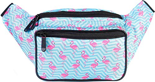 SoJourner Flamingo Fanny Pack - Cute Packs for men, women festivals raves | Waist Bag Fashion Belt Bags by SoJourner Bags