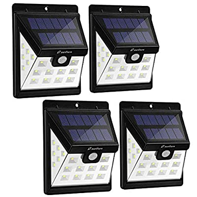 Solar Lights Outdoor, Zanflare 22 LED Motion Sensor Security Lights Solar Powered Wall Lights with 3 Lighting Modes for Garden, Outdoor, Fence, Patio, Deck, Yard, Home, Driveway, Stairs, Outside Wall