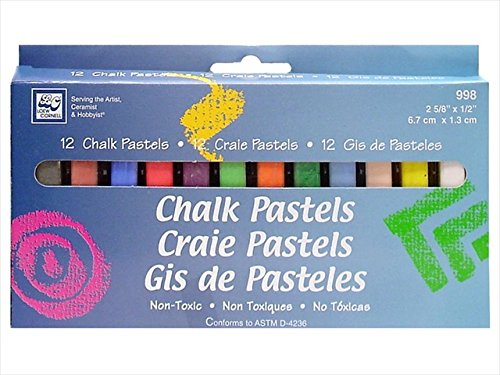 Loew-Cornell LWC998 Chalk Pastels 12 Piece, Pack Of 3