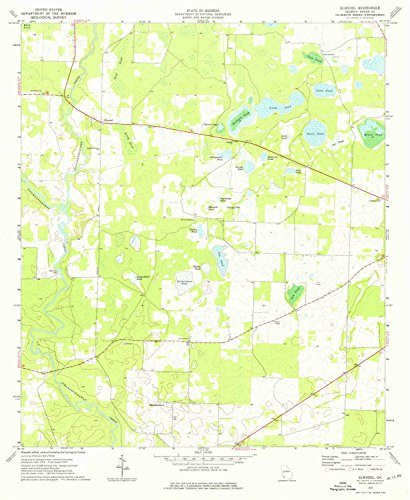 YellowMaps Elmodel GA topo map, 1:24000 scale, 7.5 X 7.5 Minute, Historical, 1974, updated 1976, 26.8 x 22 IN - Paper