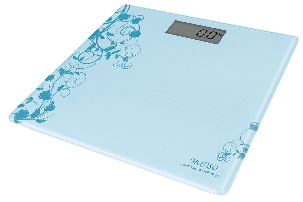 Mosiso - Ultra Thin High Accuracy Digital Bathroom Scale with Smart Step-On Technology (BLUE)