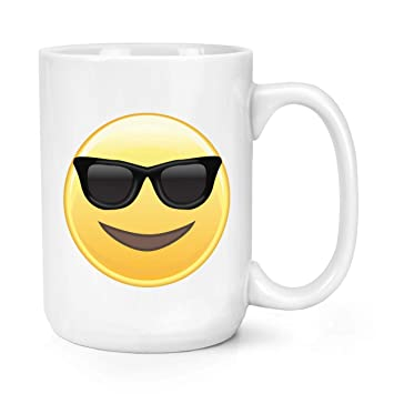 Gafas de Sol Emoji 15oz Grande Taza: Amazon.es: Hogar