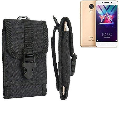 bolsa del cinturón / funda para Coolpad Cool S1, negro | caja del teléfono cubierta protectora bolso - K-S-Trade (TM)