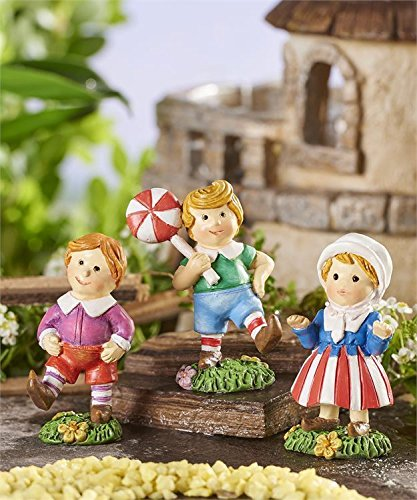 My Fairy Gardens Miniature - WIZARD of OZ Set of 3 Munchkins - Mini Dollhouse Supply Expressions