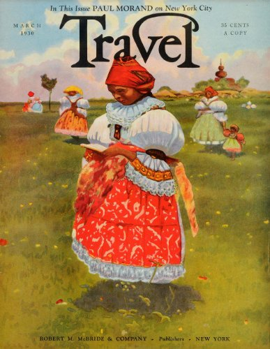 [1930 Cover Travel Czechoslovakia Folk Costume Women Children Landscape Reading - Original Cover] (Czechoslovakia Folk Costumes)