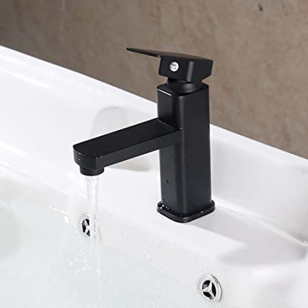 Modern Black Spray Painting Bath Sink Faucet Bathroom Cold and Hot on home bathroom fixtures, painting bathroom fixtures, architecture bathroom fixtures, woman bathroom fixtures, diy bathroom fixtures, light bathroom fixtures,
