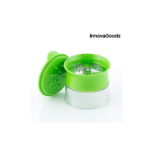 8x8x9 cm InnovaGoods Spiralicer Cortador de Verduras en Espiral Mini Verde ABS