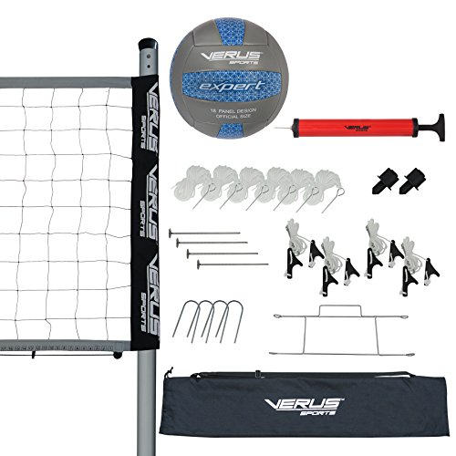 Verus Sports Expert Volleyball Set (Equipped with net, Ball, Poles, Stakes, Rope, and boundry...