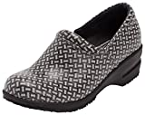 Footwear By Cherokee Women's Patricia Step In Nursing Shoe Black/White Weave