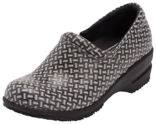 Footwear By Cherokee Women's Patricia Step In Nursing Shoe Black/White ()
