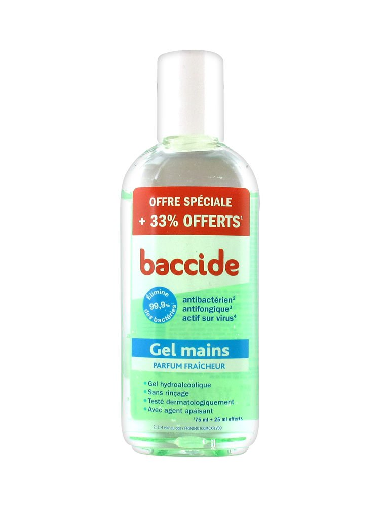 Baccide Hydroalcoholic Gel Freshness 75ml Free 25ml Amazon Co
