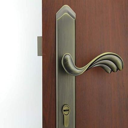 CF Cerradura de Puerta Europea Antigua Cerradura de Puerta American Handle Lock Cerradura de Puerta Interior