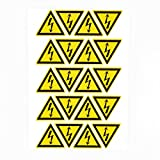 100pcs 25mm high voltage warning labels caution risk shock danger electric hazard stickers