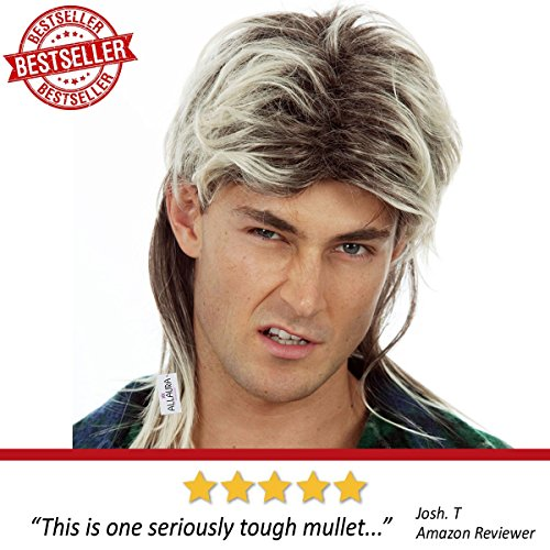 80s Blonde Mullet Wig for Men - Joe Dirt Wigs White Trash Redneck Costume by ALLAURA (Image #1)