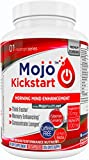 MOJO™ Kickstart - Nootropic Alpha Brain Wave Boost Mental Supplements Focus Nootropics Enhancement | Alpha GPC | Huperzine A | Ginkgo Biloba | Bacopa | Ginseng + Money Back Guarantee