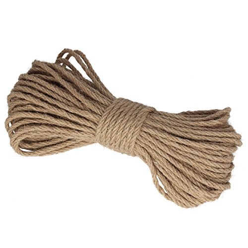 100 Feet 6Mm Natural Jute Twine Hemp String Christmas Twine String Packing Materials Durable Hemp Twine For Gardening