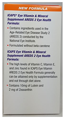ICaps Areds 2 Softgels, 120 Count Per Bottle (2 Bottles)