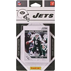 2011 Score New York Jets Factory Sealed 14 Card Team Set. Players Include Shonn Greene, Santonio Holmes, Mark Sanchez, Ladainian Tomlinson, Jerricho Cotchery, Dustin Keller, David Harris, Darrelle Revis, Braylon Edwards, Brad Smith and More.