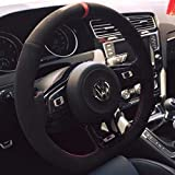 vw r steering wheel - Suede GTI Clubsport Steering Wheel Cover for VW Golf MK7 Scirocco Polo R GTI GLI 2013 + Manual Models