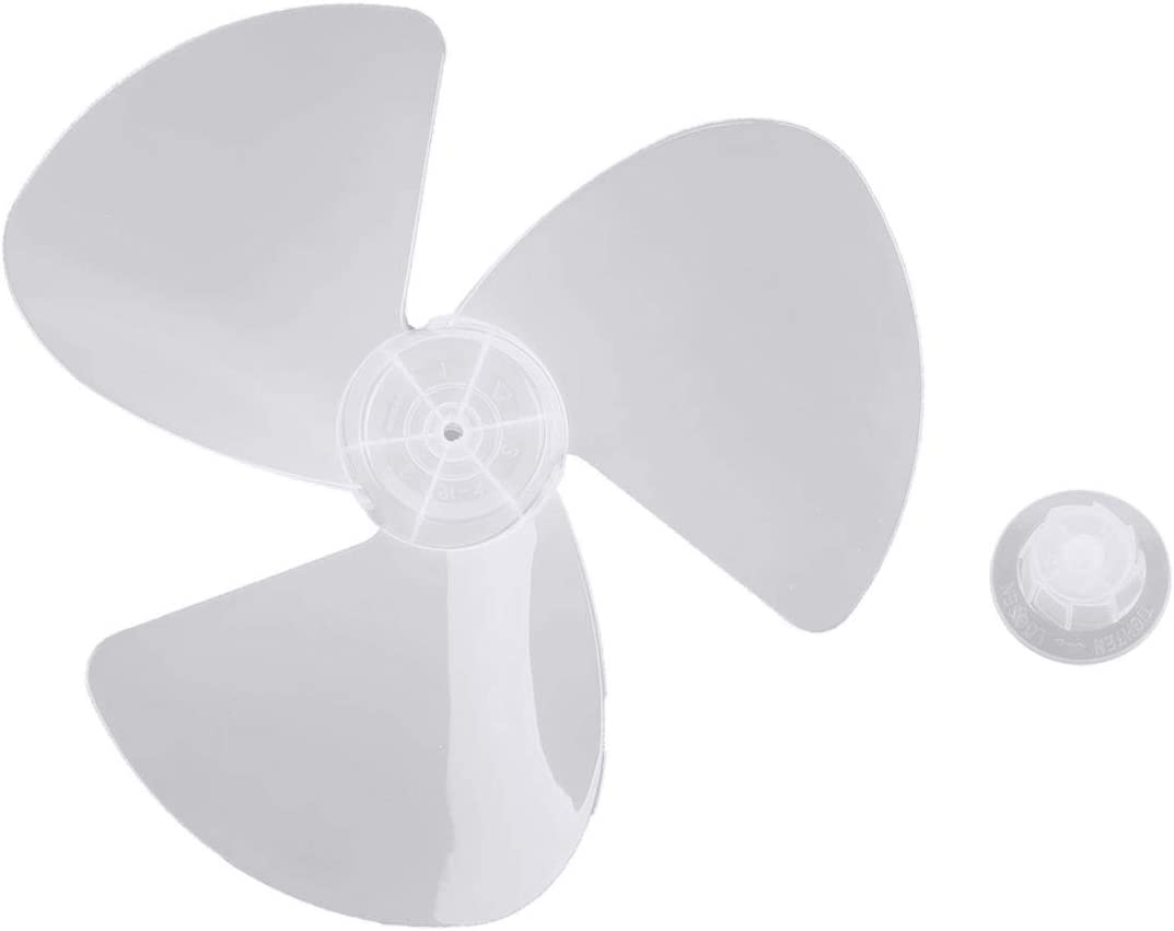 Aluminum////Plastic Fan Blade 5//3 Leaves Nut Cover for Stand Pedestal Table Fanner
