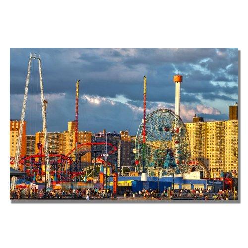 Coney Island by CATeyes, 22x32-Inch Canvas Wall Art