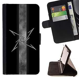 - RANDOM MODERN MYSTIC FREEMASONS ART SYMBOL - - Prima caja de la PU billetera de cuero con ranuras para tarjetas, efectivo desmontable correa para l Funny HouseFOR Samsung Galaxy S4 Mini i9190