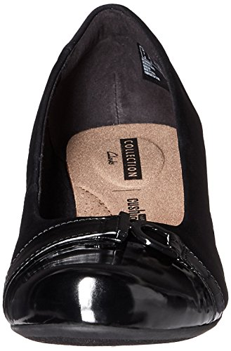 Wedge Combi Women's W Clarks US 7 Flores Pump Poppy Black wxP1YP