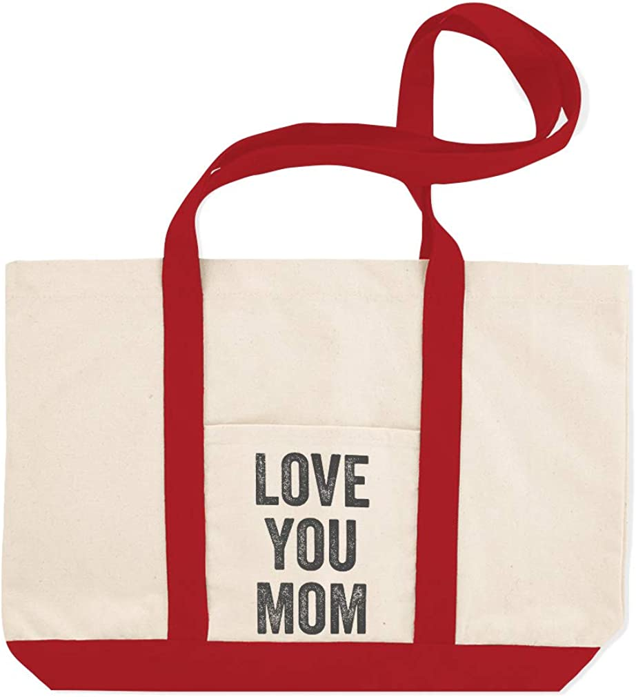 Canvas Shopping Tote Bag Love You Mom A Family /& Friends Love Mom Beach for Women Mothers Day Gift
