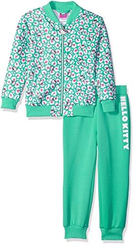 Hello Kitty Girls Scuba Knit Bomber Jacket Pant Set