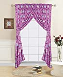 GorgeousHome OWL PINK Design Bedding Complete Set For Girls (2PC WINDOW CURTAIN SET)