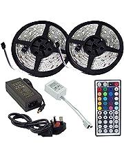 Waterproof 10 Meter 5050 RGB LED Strips Light Full Kit 44Key Remote Power Supply