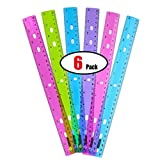 GIFTEXPRESS Pack of 6, Jeweltones Color Ruler, 12
