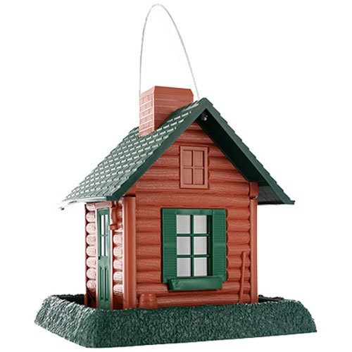 Log Cabin Decorative Bird Feeder