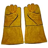 Baosity 1 Pair Protective Gloves Welding Gear Hands Cover Heat Insulation Protection