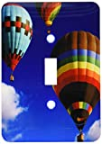 3dRose lsp_154982_1 Hot Air Balloons Racing In The Blue Sky - Single Toggle Switch