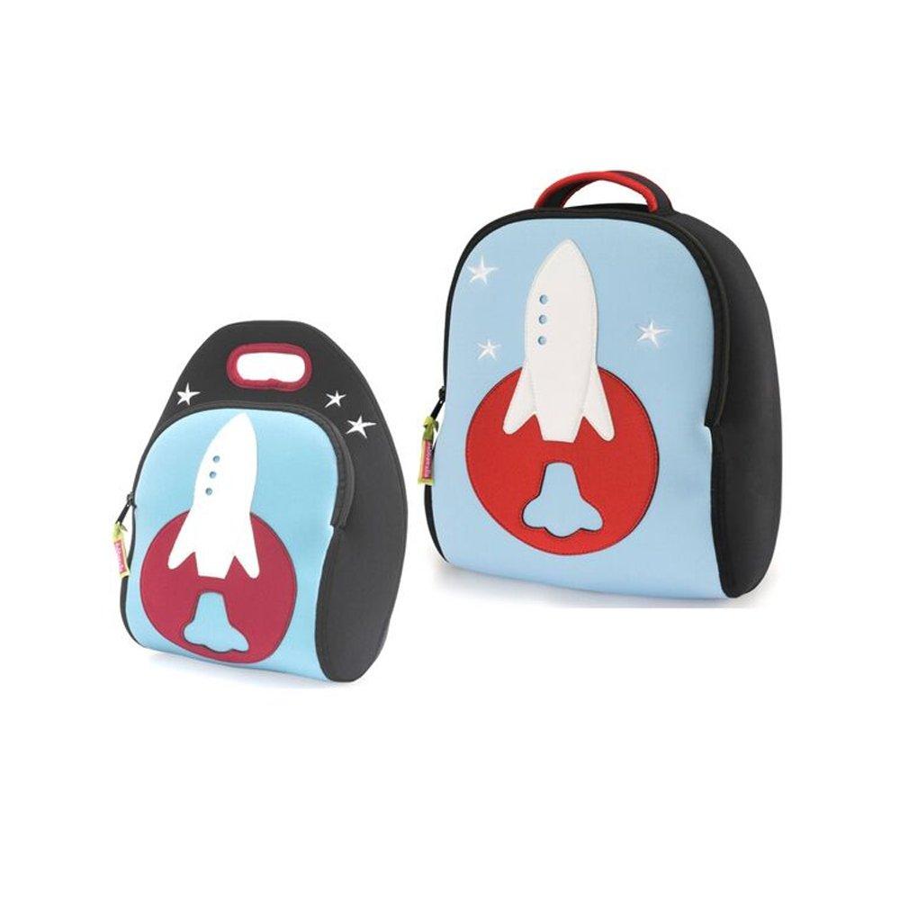 Cute Whale Sea Lion Backpack Boys Girls Lunch Box Pencil Bag Travel Book Bag