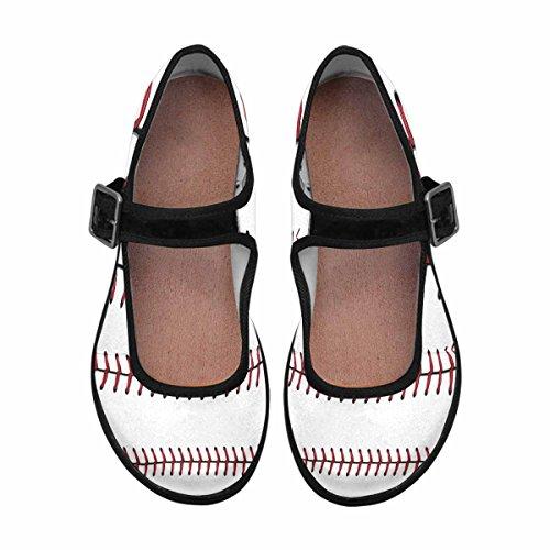 Interestprint Womens Comfort Mary Jane Flats Casual Scarpe Da Passeggio Multi 9