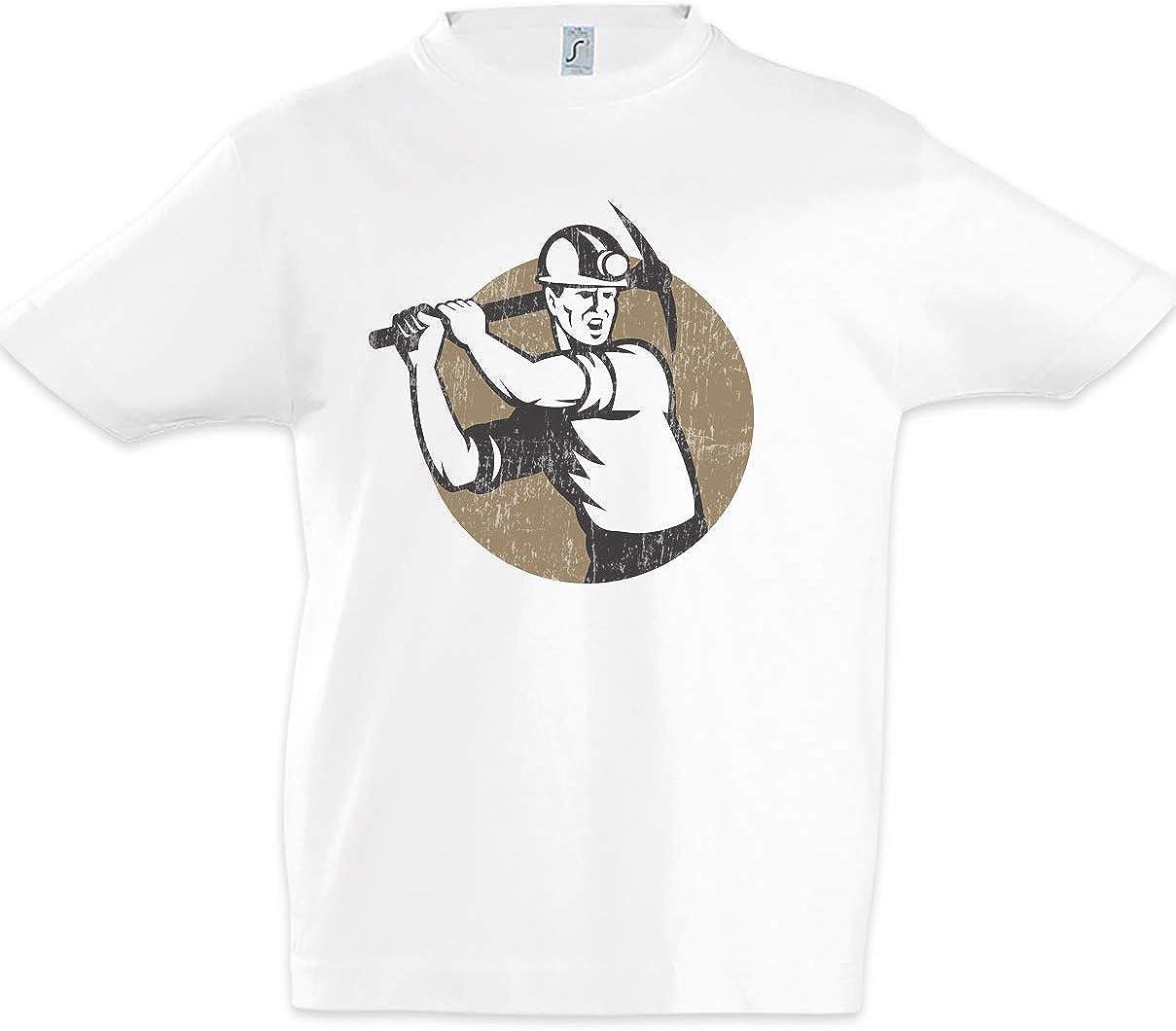 Urban Backwoods Miner VI Kids Boys Children T-Shirt