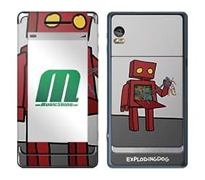 MusicSkins, MS-EXDG20207, EXPLODINGDOG - I Hate Technology, Motorola Droid 2, Skin