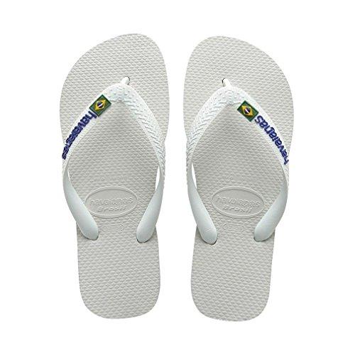Adulte Havaianas Tongs Brasil Blanc Mixte r8trBxwnT