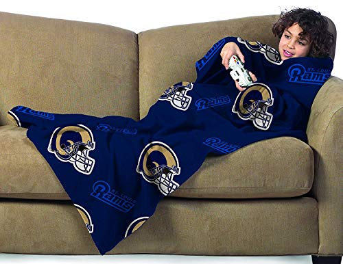 (St Louis Rams Youth Comfy Throw Snuggler - The Blanket with Sleeves)