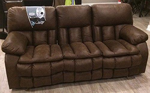 Catnapper Madden Polyester Reclining Sofa - Dark Brown