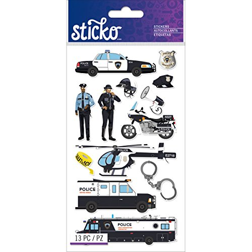 Sticko Classic Police Officer Cars Stickers