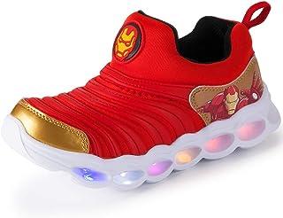 Elyseeseny 2019 /Ét/é Mode Mesh Running Sneakers pour B/éb/é Gar/çon Fille Pas Cher Baskets Enfants Chaussures Combinaison de Deux Couleurs avec Motif de Football Sandales de Respirantes Athl/étique