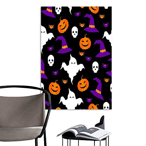 Linen Art Prints PicturesHappy halloween abstract seamless pattern