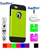 iPhone 5 Case,iPhone 5s Case,SupMax™ *Armor Defender* *TPU+PC* High Impact Resistant Dual Layer Dirtproof Scratchproof Shockproof Skidproof [Brand Gifts] for Apple iPhone 5/5s (Green)